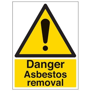 Danger Asbestos Removal - Portrait