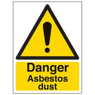 Danger Asbestos Dust - Portrait