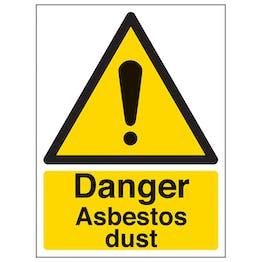 Danger Asbestos Dust - Portrait