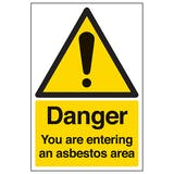 Danger You Are Entering An Asbestos Area - Portrait