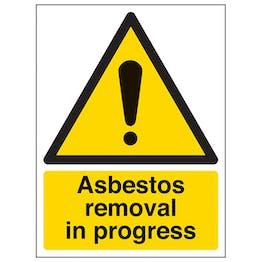 Asbestos Removal In Progress - Portrait