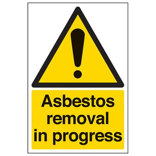 Asbestos Removal In Progress - Portrait
