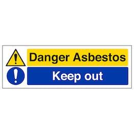 Danger Asbestos/Keep Out - Landscape