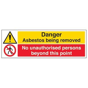 Asbestos/Unauthorised Persons - Landscape
