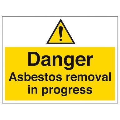 Danger Asbestos Removal - Large Landscape