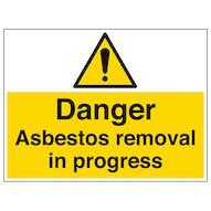 Asbestos Removal In Progress - Large Landscape