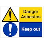 Danger Asbestos/Keep Out - Large Landscape