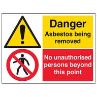 Asbestos/Unauthorised Persons - Large Landscape
