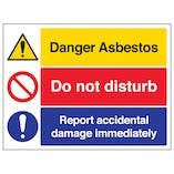 Asbestos/Do Not Disturb/Report