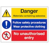 Asbestos/Safety Procedures/No Entry