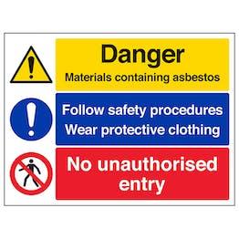 Asbestos/Safety Procedures/No Entry