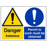 Danger Asbestos/Permit To Work - Large Landscape