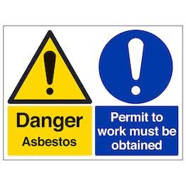 Danger Asbestos/Permit To Work - Large Landscape