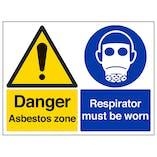 Danger Asbestos Zone/Respirator