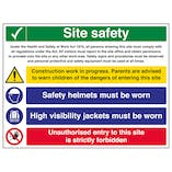 Multi Hazard Site Safety Hi Vis Jackets - Large Landscape