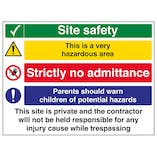 Multi Hazard Site Safety Very Hazardous Area - Large Landscape
