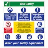 Multi Hazard Site Safety Warning To Public - Portrait