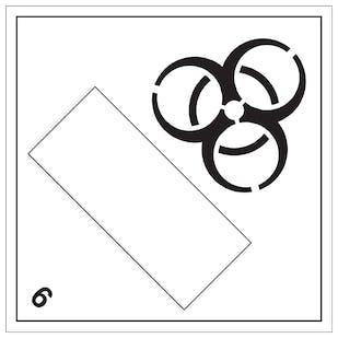 Bio Hazard 6 UN Substance Numbering Hazard Label