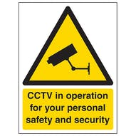 CCTV In Operation For Your Personal Safety
