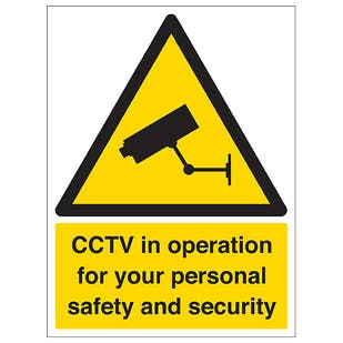 CCTV In Operation For Your Personal Safety - Portrait