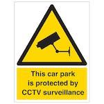 Car Park Is Protected By CCTV Surveillance - Portrait