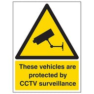 Vehicles Are Protected By CCTV - Portrait