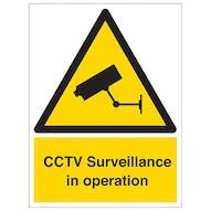 CCTV Surveillance Camera In Use - Portrait