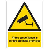 Video Surveillance In Use On These Premises