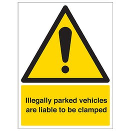 Security Notice - Illegally Parked Vehicles