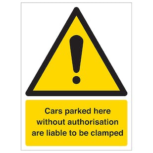Cars Will Be Clamped