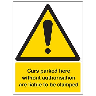 Cars Will Be Clamped - £50 Release