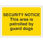 Security Notice - This Area Is Patrolled