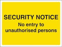 No Entry To Unauthorised Persons