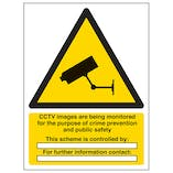 CCTV - Images Are Being Monitored