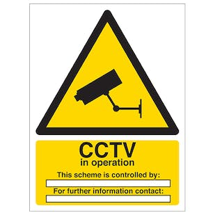 CCTV In Operation - Scheme Is Controlled By