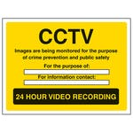CCTV Images Are Being Monitored - Landscape
