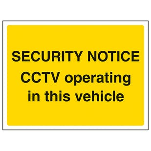 CCTV Operating In This Vehicle - Landscape