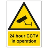 24 Hour CCTV - Window Sticker