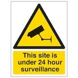 Under 24 Hour Surveillance - Window Sticker