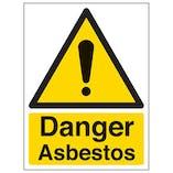 Eco-Friendly Danger Asbestos - Portrait