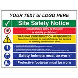 Multi Hazard Site Safety Notice 5 Points - Large Landscape
