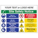 Multi Hazard Site Safety Notice 8 Points 2 Column