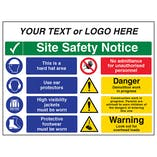 Multi Hazard Site Safety Notice 8 Points 2 Column