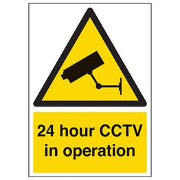 24 Hour CCTV In Operation - A4