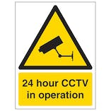 24 Hour CCTV In Operation - Polycarbonate