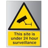 Under 24 Hour Surveillance - Portrait - Aluminium Effect
