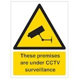 These Premises Are Under CCTV Surveillance - Window Sticker