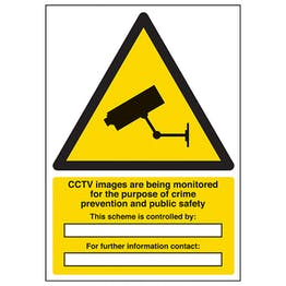 CCTV Images Are Being Monitored - A4