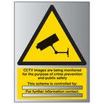 CCTV - Images Are Being Monitored - Aluminium Effect