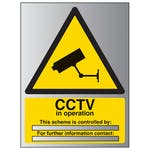 CCTV In Operation - Scheme Is Controlled By - Aluminium Effect